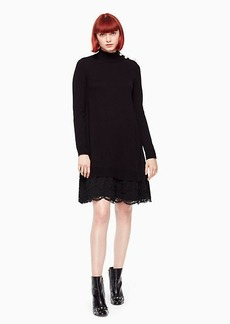 Kate Spade lace inset sweater dress