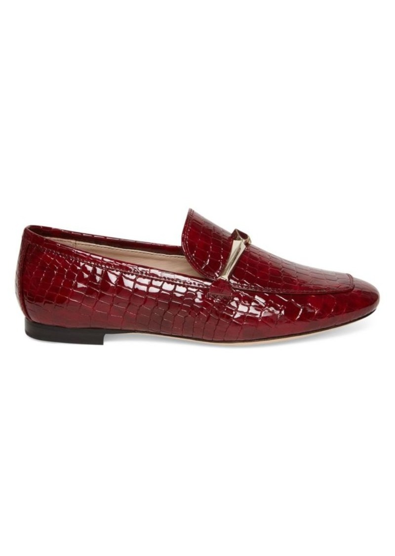 Kate Spade Lana Croc-Embossed Leather Loafers