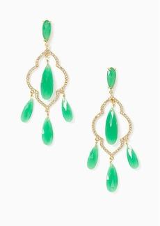 Kate Spade lantern gems chandelier earrings