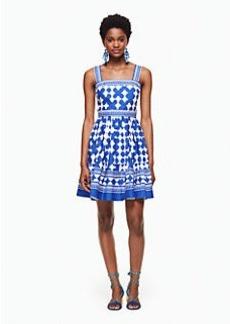 lantern poplin flounce dress