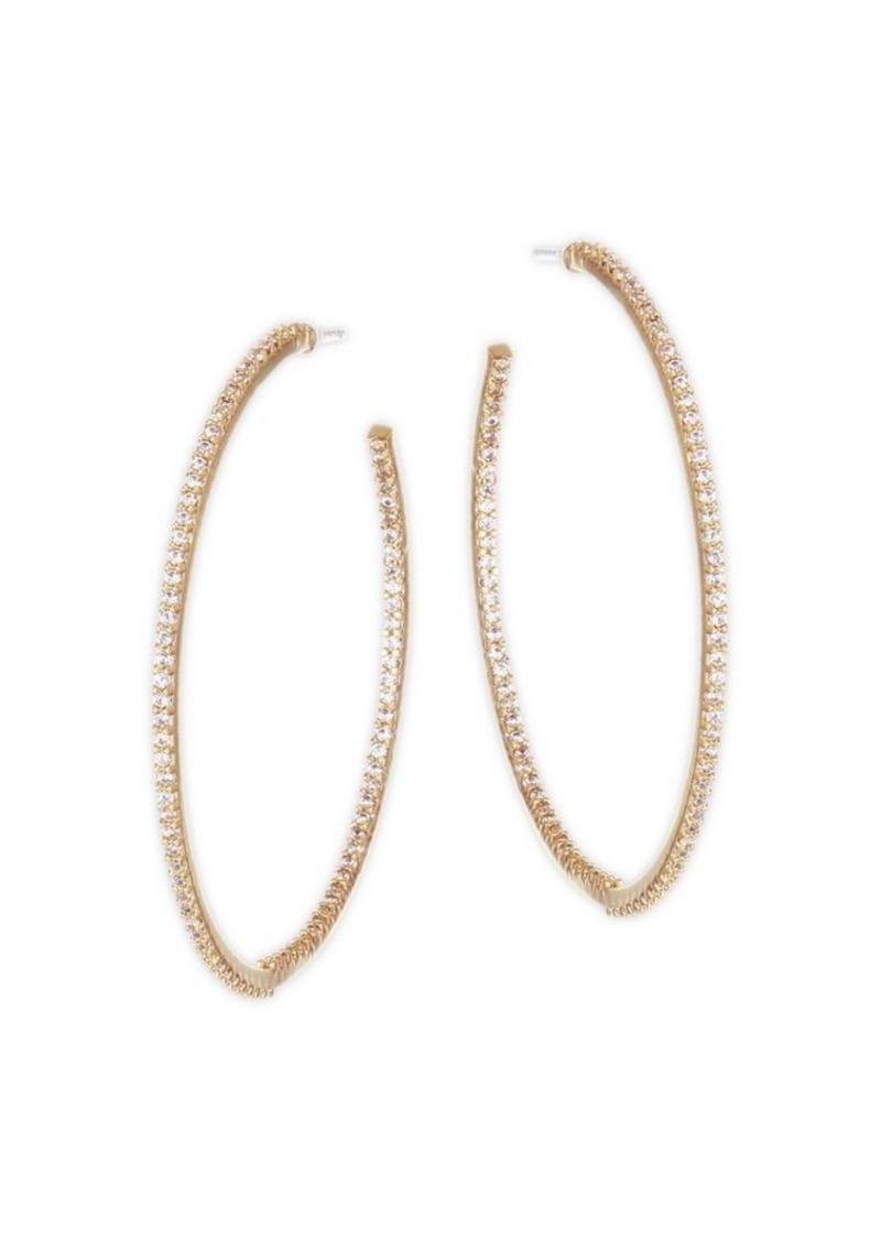 Kate Spade Large Pave Hoop Earrings