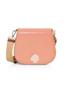 Kate Spade Large Suzy Leather Saddle Bag