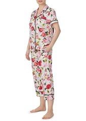 Kate Spade lawn short-sleeve crop pajama set