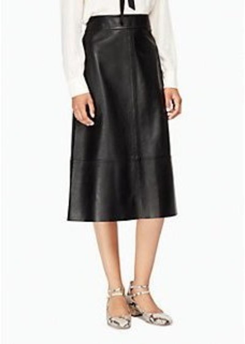 Kate Spade leather a-line skirt