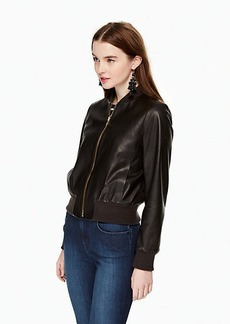 Kate Spade leather bomber jacket