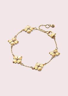 Kate Spade legacy logo spade flower bracelet