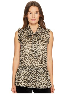 Kate Spade Leopard Clipped Dot Top