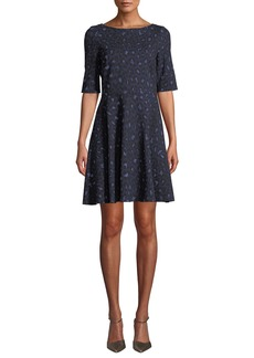 Kate Spade leopard lace-up ponte dress