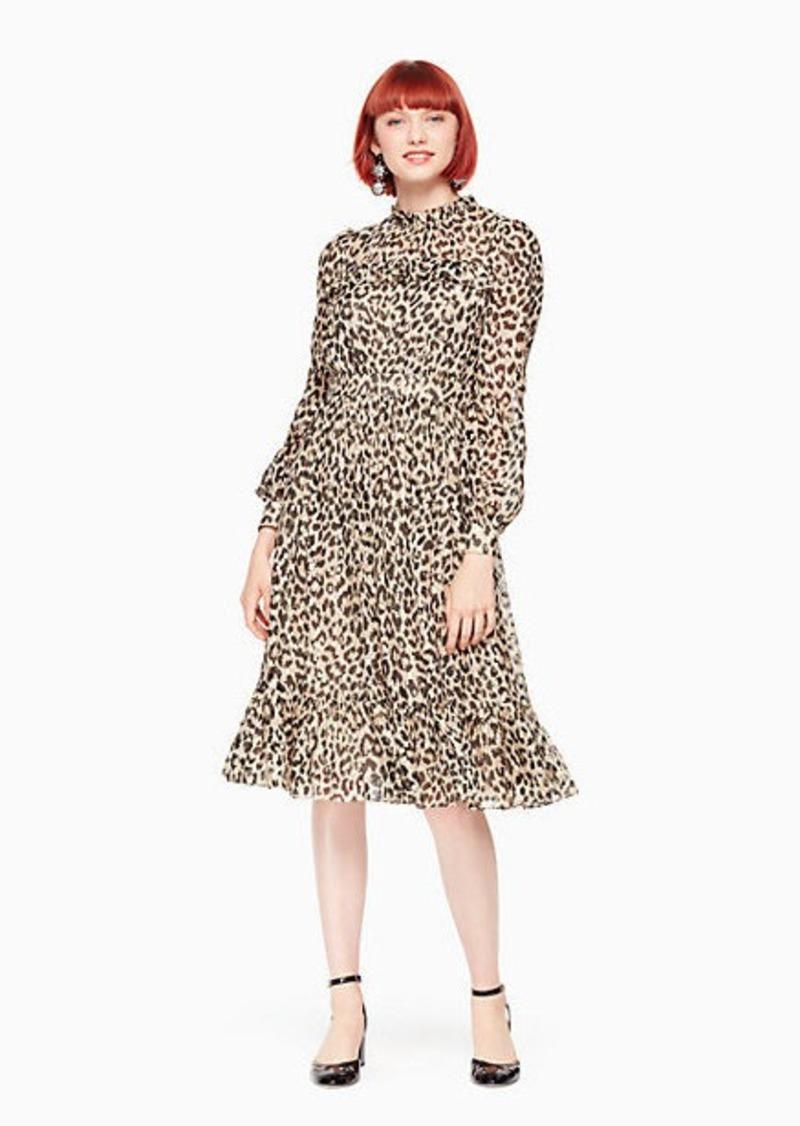 df9d0d391a13 Kate Spade leopard-print clipped dot midi dress | Dresses