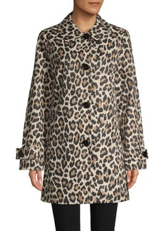 Kate Spade Leopard-Print Trench Coat