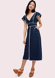 Kate Spade linen contrast trim dress