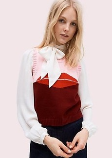 Kate Spade lips sweater vest