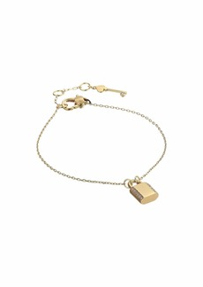 Kate Spade Lock and Spade Pave Lock Solitaire Bracelet