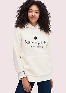 Kate Spade logo sherpa hoodie