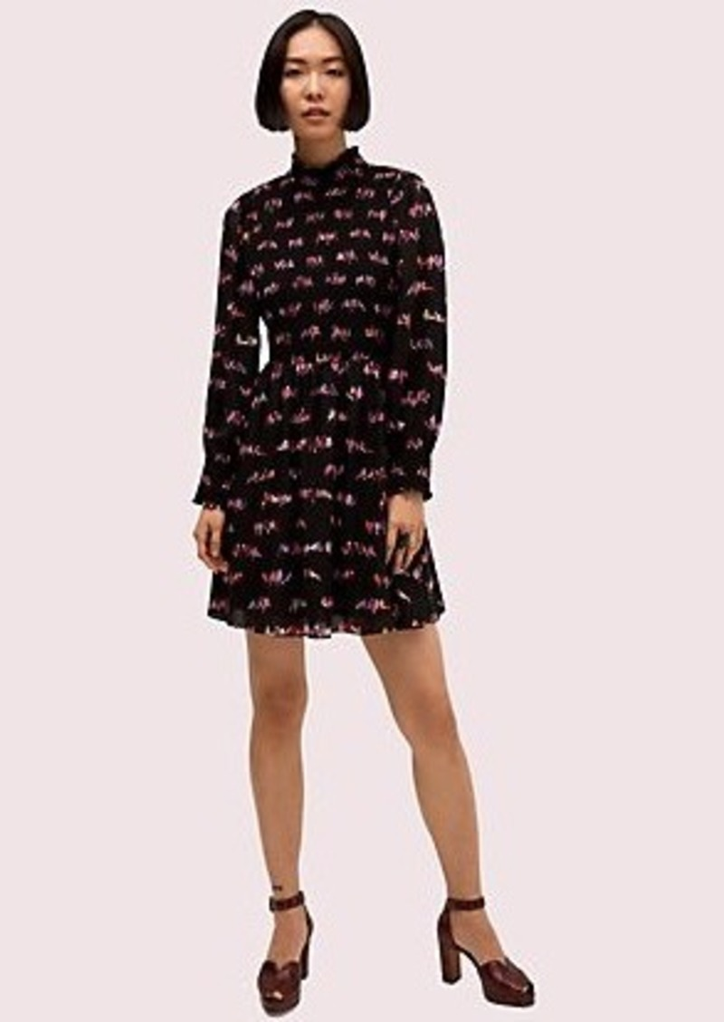 Kate Spade love birds smocked dress