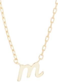 Kate Spade M script letter pendant necklace