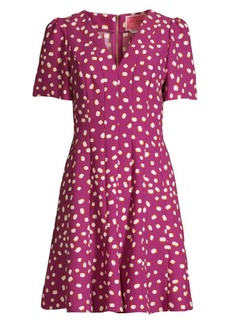 Kate Spade Mallow Dot Crepe A-Line Dress