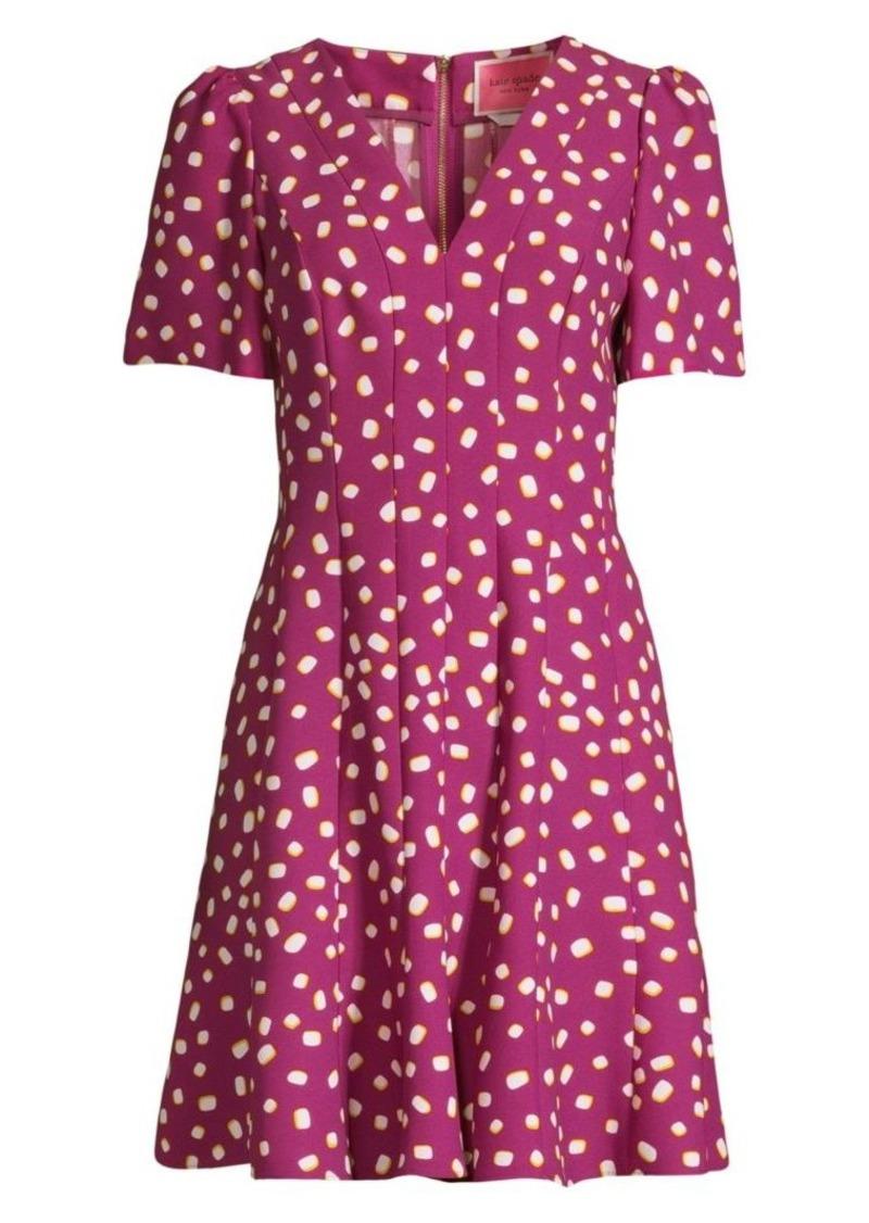 Kate Spade Mallow Dot Crepe A-Line Dress
