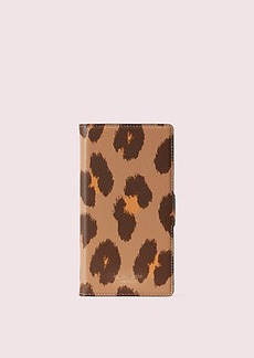 Kate Spade margaux leopard iphone xs magnetic folio case