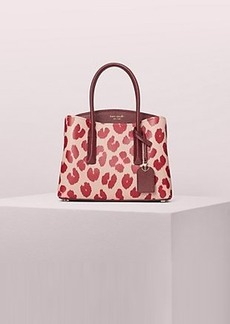 Kate Spade margaux leopard medium satchel