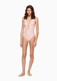Kate Spade marina piccola halter plunge one-piece swimsuit