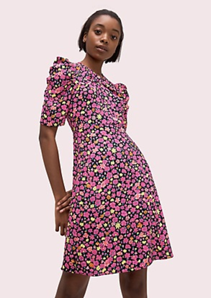 Kate Spade marker floral a-line dress