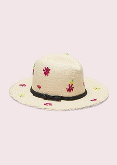 Kate Spade marker floral embroidery trilby