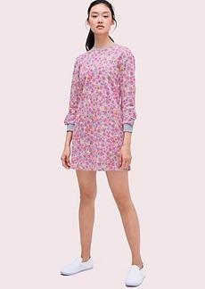 Kate Spade marker floral ruffle sweatshirt dress