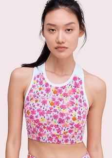 Kate Spade marker floral sports bra