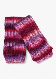 Kate Spade Marled Stripe Pop-Top Gloves