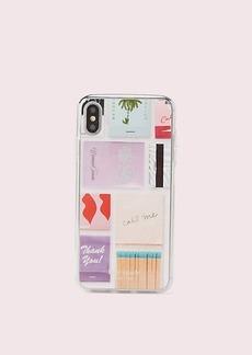 Kate Spade matchbooks iphone xs max case