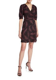 Kate Spade meadow short-sleeve wrap dress