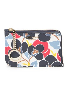 Kate Spade medium cameron breezy floral leather card holder