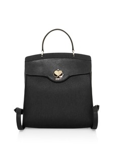 Kate Spade Medium Romy Twistlock Leather Backpack