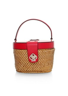 Kate Spade Medium Rose Top Handle Basket Bag