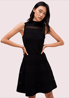 Kate Spade mesh panel sweater dress