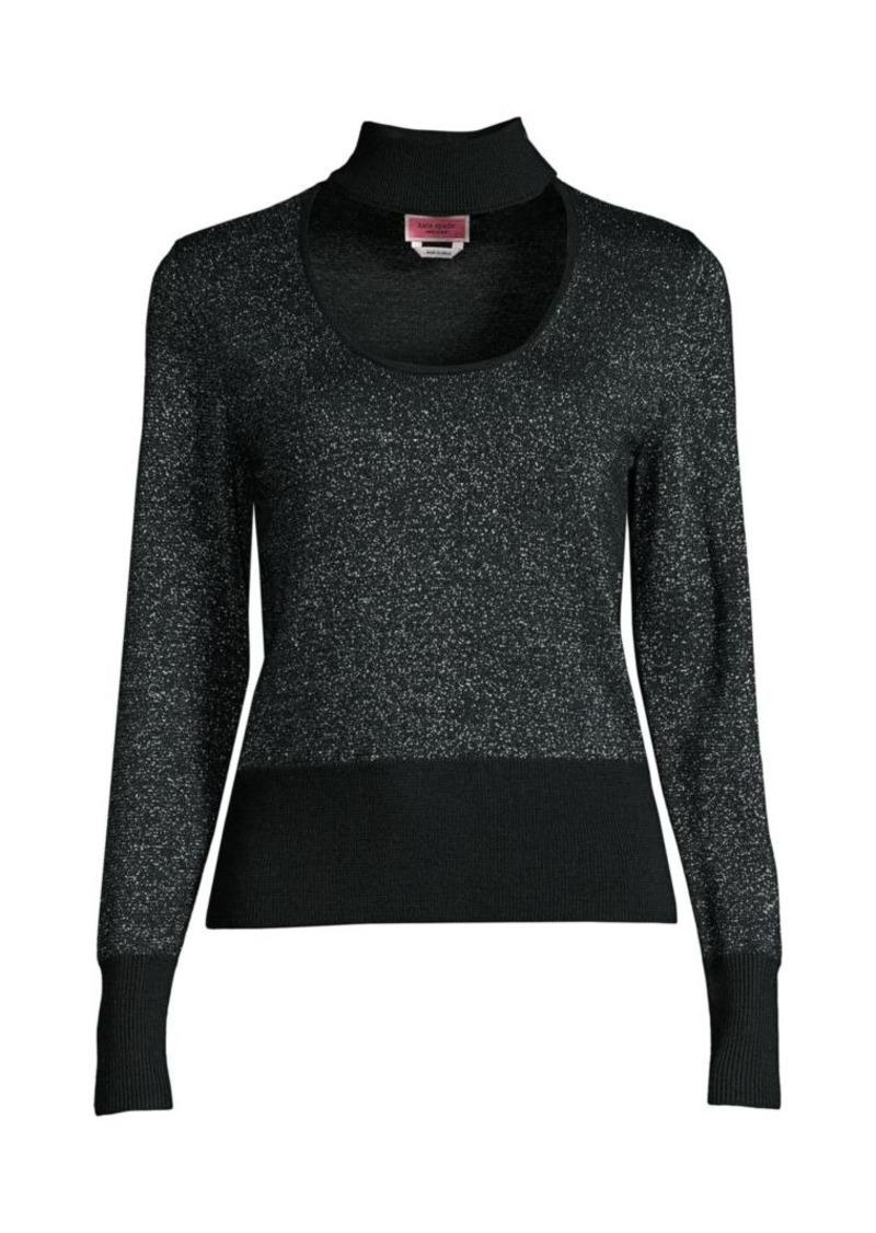 Kate Spade Metallic Choker Sweater