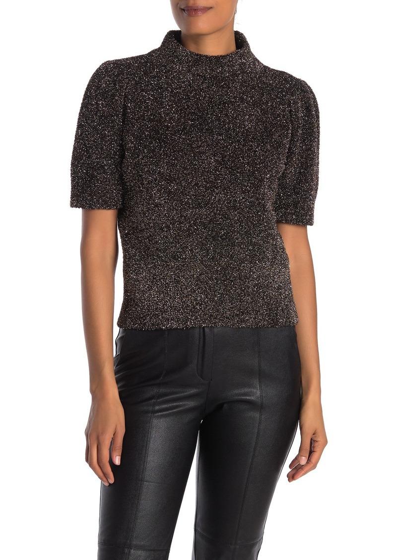 Kate Spade metallic fuzzy sweater
