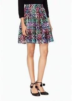 metallic multi dot skirt