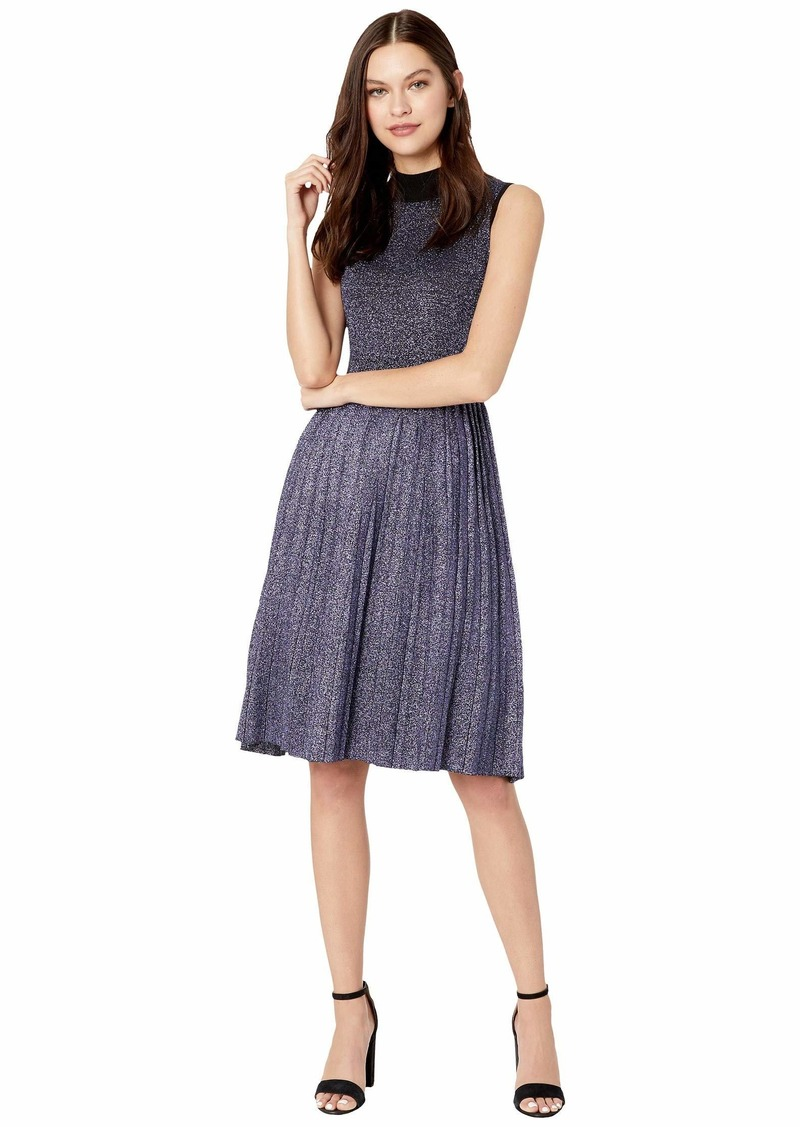 Kate Spade Metallic Pleated Sweater Dress