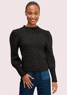Kate Spade metallic puff sleeve sweater
