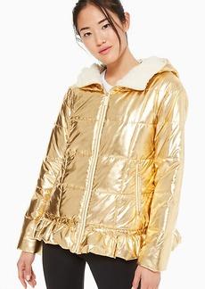 Kate Spade metallic puffer jacket