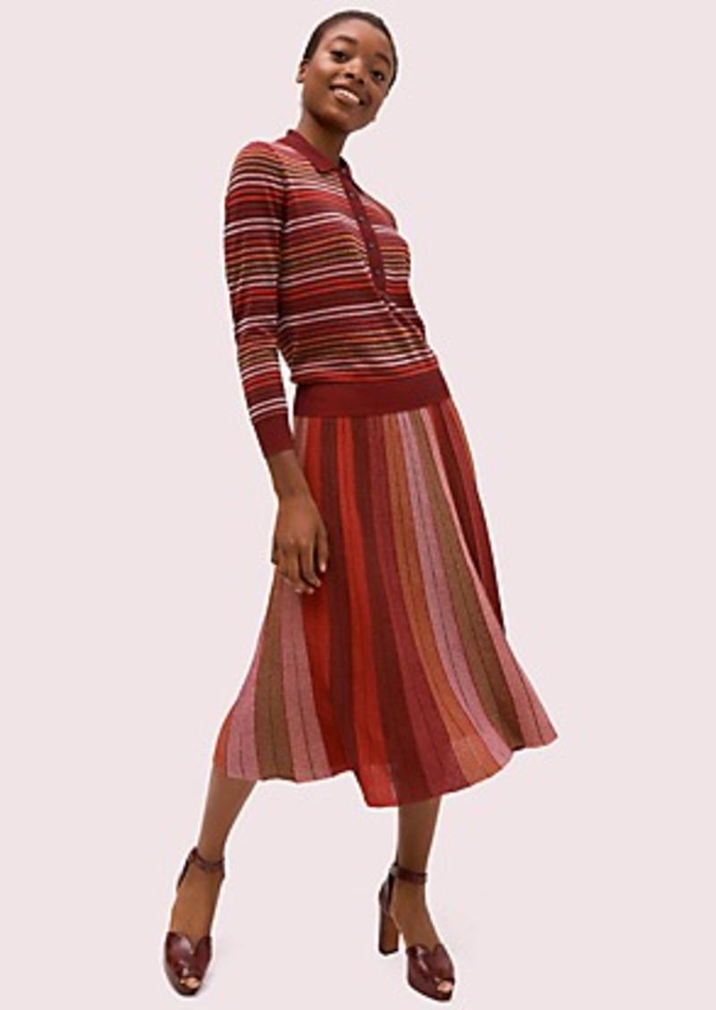 Kate Spade metallic stripe knit skirt