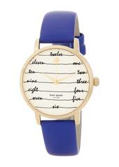 Kate Spade women's metro blue leather strap watch, 34mm