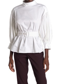 Kate Spade micro pleat top
