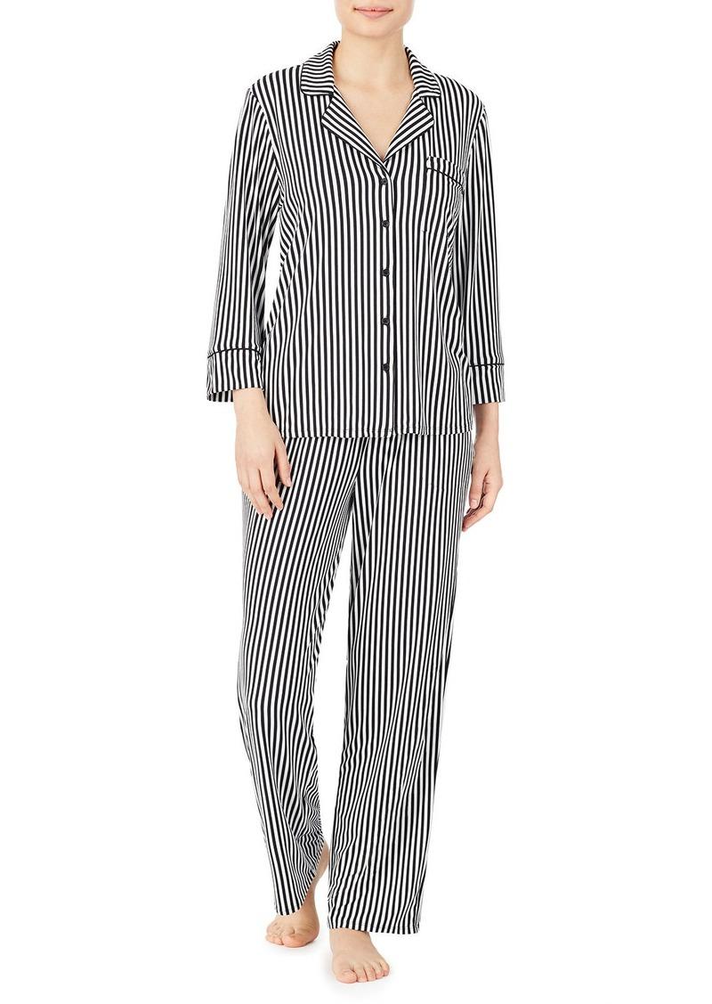 Kate Spade micro-stripe classic pajama set
