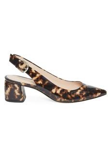 Kate Spade Mika Leopard Patent Leather Slingback Pumps