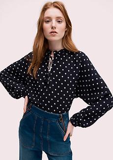 Kate Spade mini flora tie-neck top