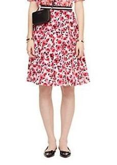 mini rose pleated skirt