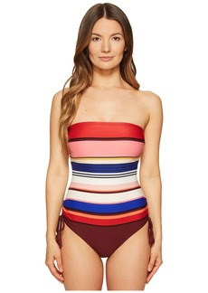 Kate Spade Miramar Beach #59 Adjustable Bandeau One-Piece Swimsuit w/ Removable Soft Cups and Straps